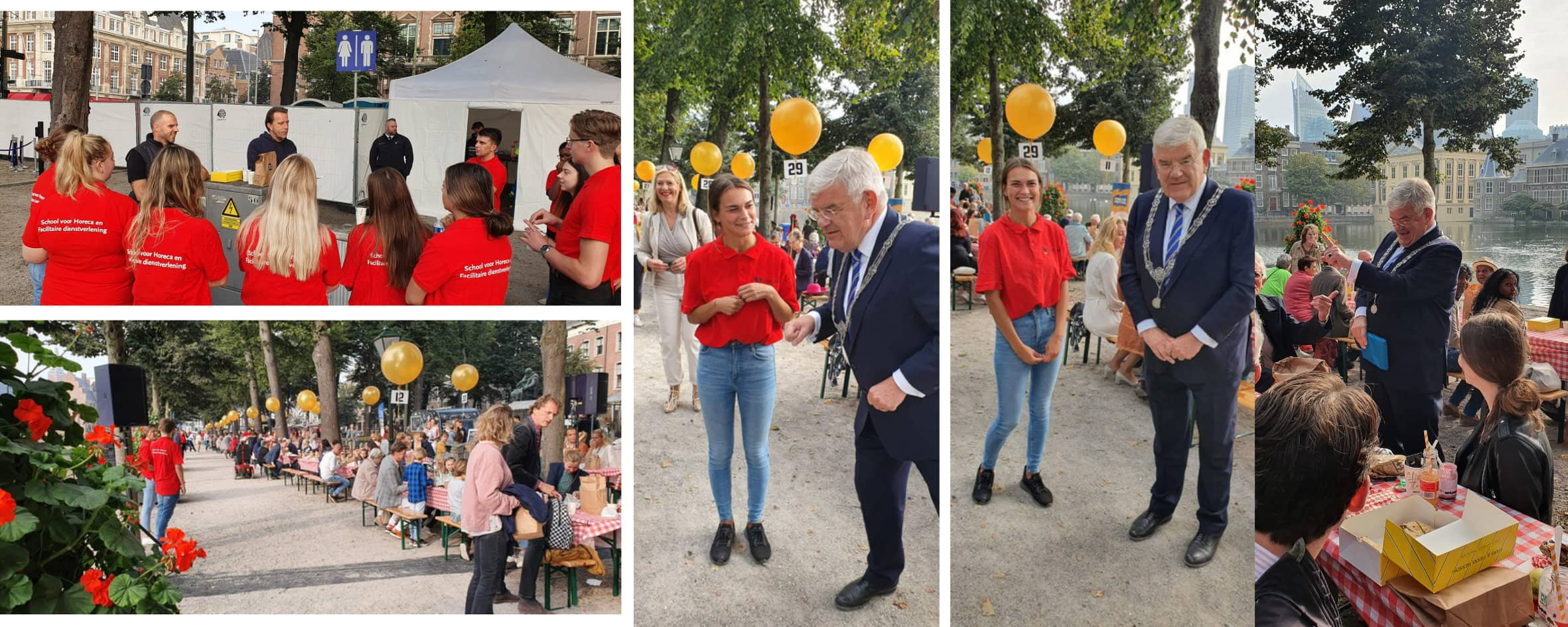 Studenten Allround Hospitality op Prinsjesontbijt 2021